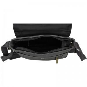 Pánská kožená taška Always Wild Cesan - černo-šedá