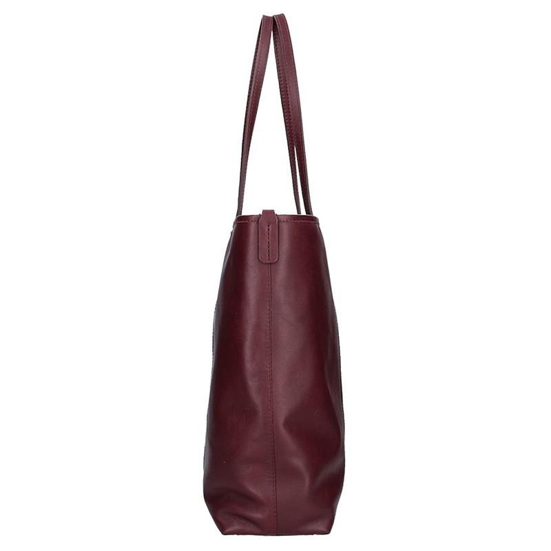 Dámská kožená kabelka Facebag Gwen - vínová