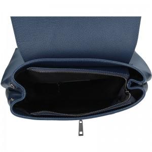 Dámský kožený batoh Delami Beathag - modrá