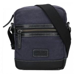 Pánská taška přes rameno Lagen Albert - modro-černá