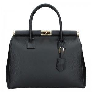 Dámská kožená kabelka Delami Bonny - černá