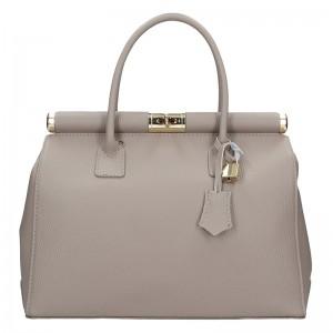 Dámská kožená kabelka Delami Bonny - šedá