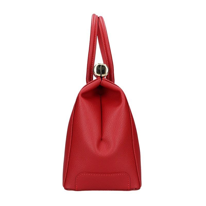 Dámská kožená kabelka Delami Bonny - červená
