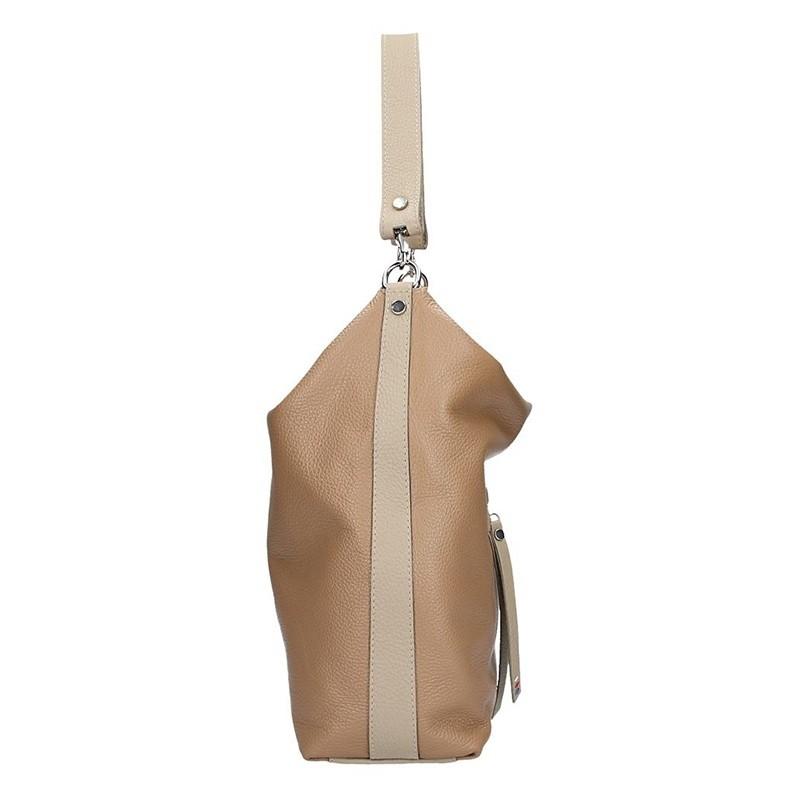 Dámská kožená kabelka Facebag Elina - béžová