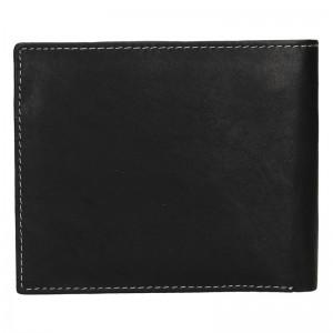 Pánská kožená peněženka Diviley Fabilo - černá