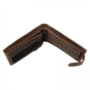 Pánská kožená peněženka Diviley Wild - hnědá