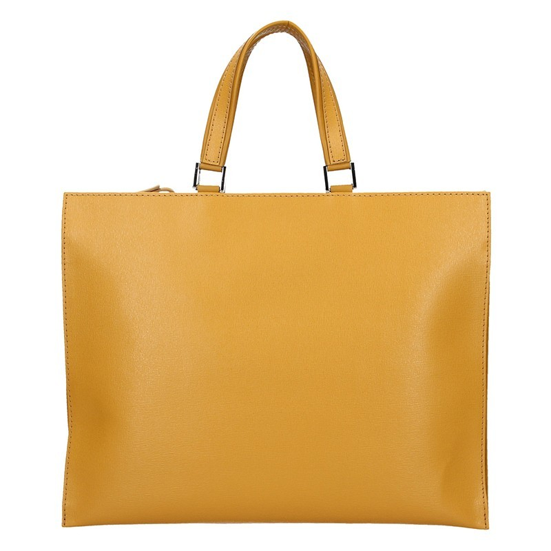 Dámská kožená aktovka Facebag Lexa - žlutá