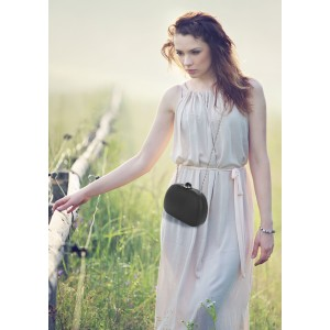 Dámské krajkové psaníčko LS Fashion Emily - stříbrná