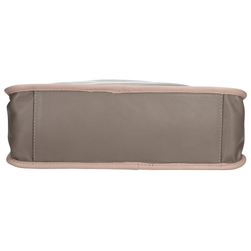 Dámská kožená kabelka Facebag Elma - béžová