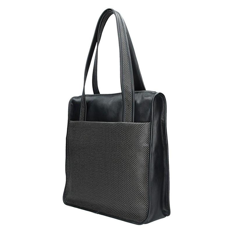 Dámská kožená kabelka Facebag Elma - černá