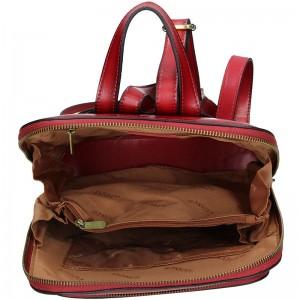 Dámský kožený batoh Katana Alens - vínová