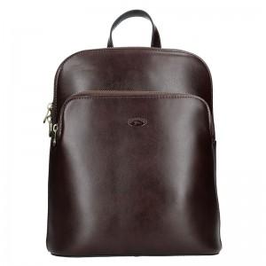 Dámský kožený batoh Katana Alens - tmavě hnědá