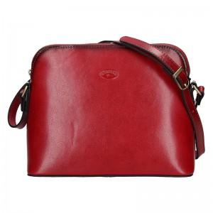 Kožená dámská crosbody kabelka Katana Nicolet - červená