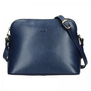 Kožená dámská crosbody kabelka Katana Nicolet - modrá