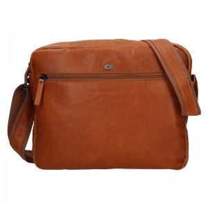 Pánská kožená taška Daag Kresl - koňak