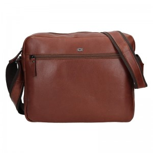 Pánská kožená taška Daag Kresl - vínovo-hnědá
