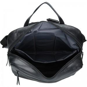 Pánský kožený batoh Daag Sanco - černá