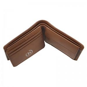 Pánská kožená peněženka Bugatti Unbert - hnědá