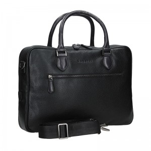 Pánská kožená taška přes rameno Bugatti Aristel - černá