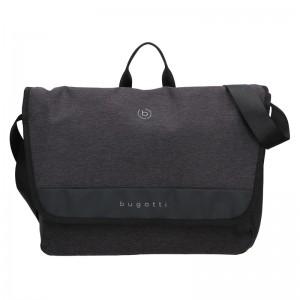Pánska taška cez rameno Bugatti Domani - černo-šedá