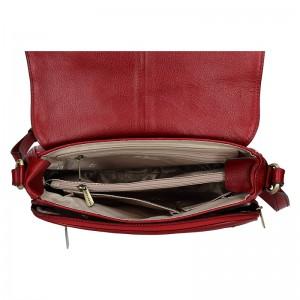 Dámská kožená kabelka Hexagona Alessia - vínová