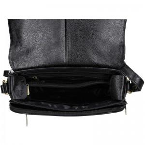 Dámská kožená kabelka Hexagona Alessia - černá