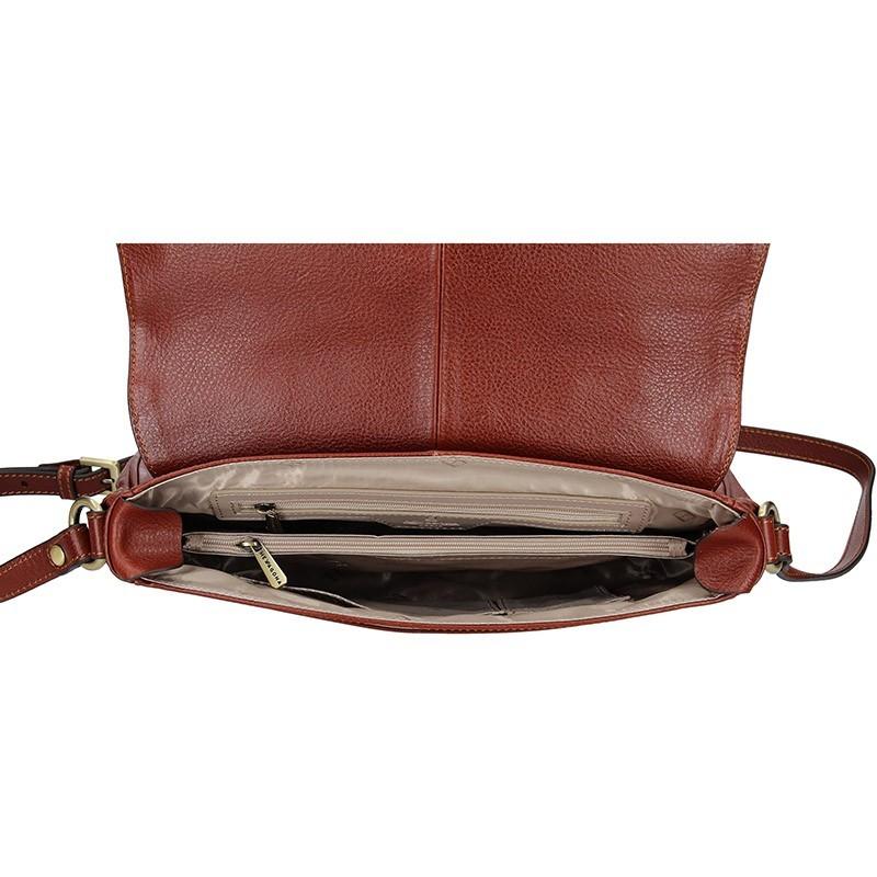 Dámská kožená kabelka Hexagona Giada - hnědá