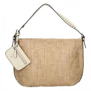 Dámská kabelka Sisley Lisa - béžová