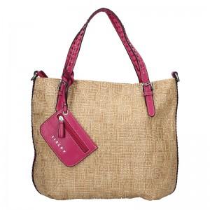 Dámská kabelka Sisley Noemi - béžovo-fialová