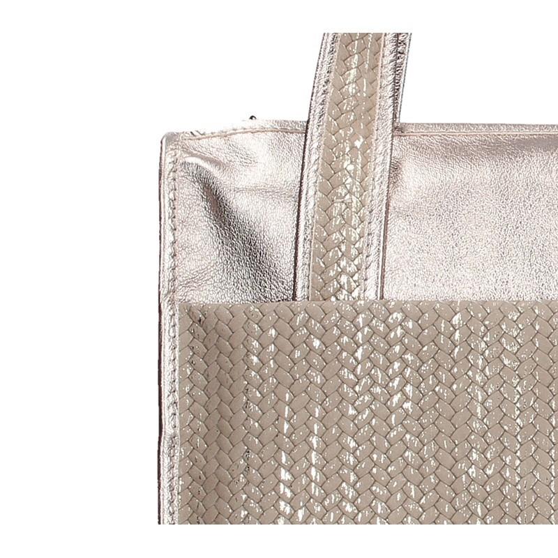 Dámská kožená kabelka Facebag Elma - zlato-béžová