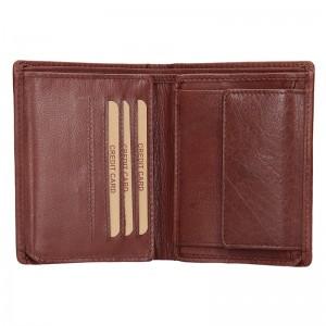 Pánská kožená peněženka Lagen Kliom - hnědá
