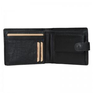 Pánská kožená peněženka Lagen Zdeno - černá