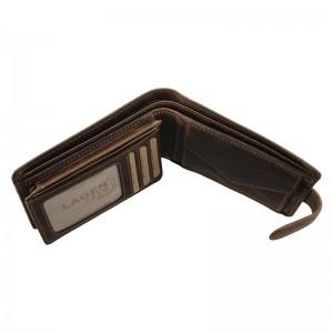 Pánská kožená peněženka Lagen Oleg - tmavě hnědá