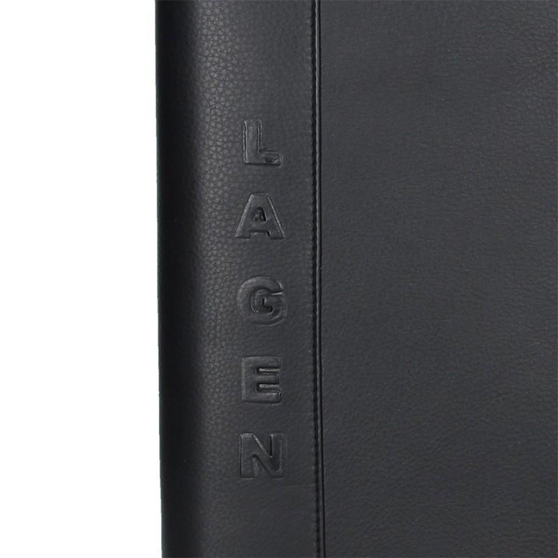 Celokožená pánská spisovka Lagen Lenon - černá