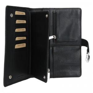 Luxusní celokožené pánské etue Lagen Note - černa