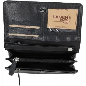 Pánské kožené etue Lagen Kesel - černá