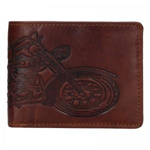 Pánská kožená peněženka Lagen Moto - hnědá