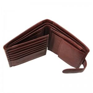 Pánská kožená peněženka Lagen Katini - hnědá