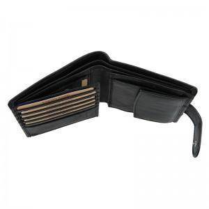 Pánská kožená peněženka Lagen Katini - černá