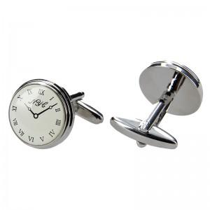 Pánský manžetový knoflíček hodiny