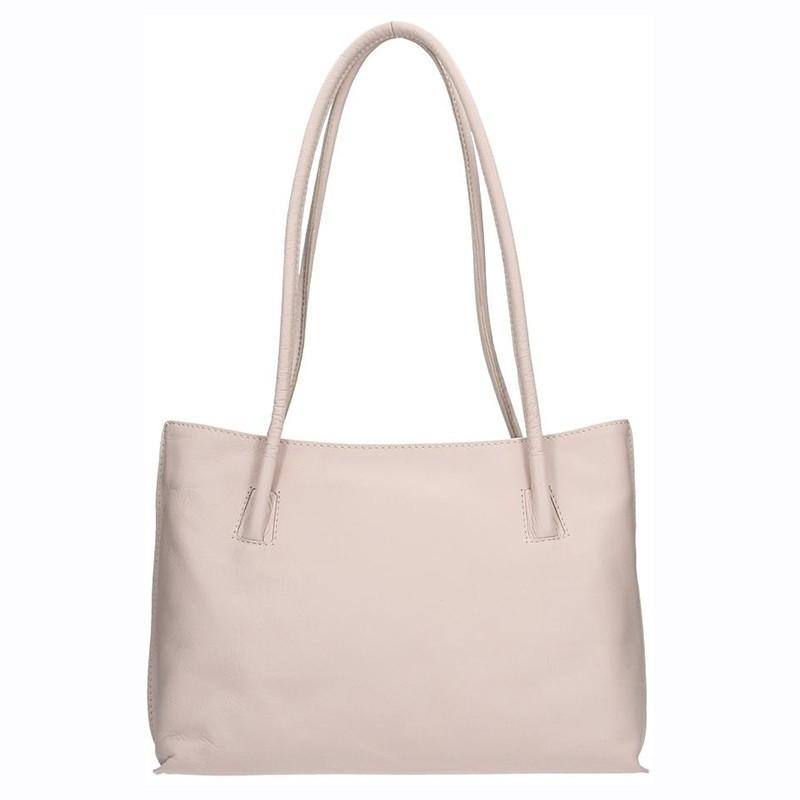 Dámská kožená kabelka Facebag Dora - béžová