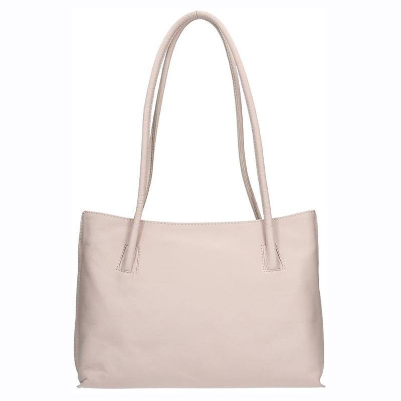 Dámská kožená kabelka Facebag Dora - béžová 9cee3ef1a42