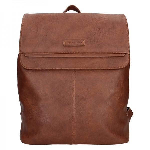 Moderní dámský batoh Enrico Benetti Alexa - hnědá