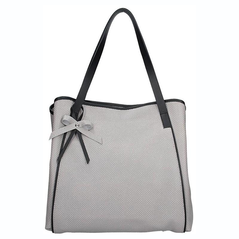 Dámská kožená kabelka Facebag Helena - šedá