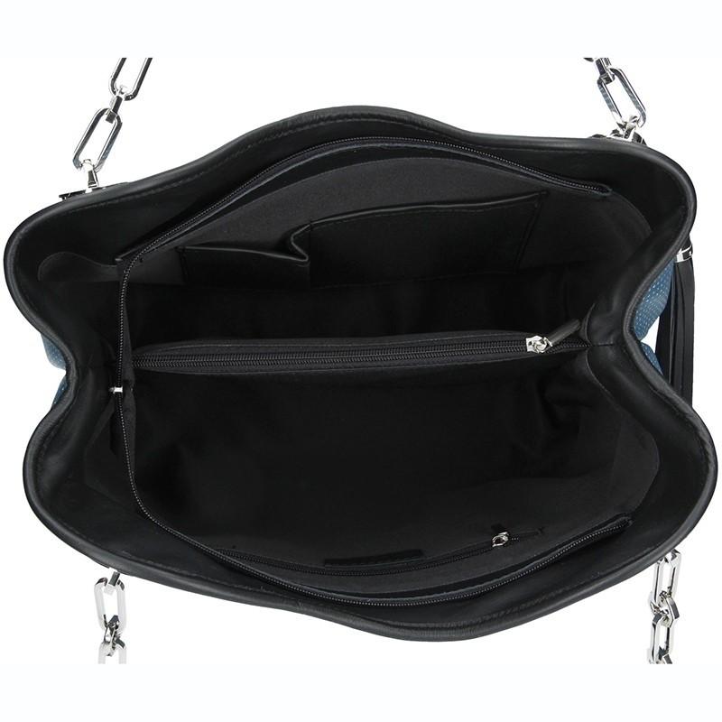 Dámská kožená kabelka Facebag Sofia - modrá
