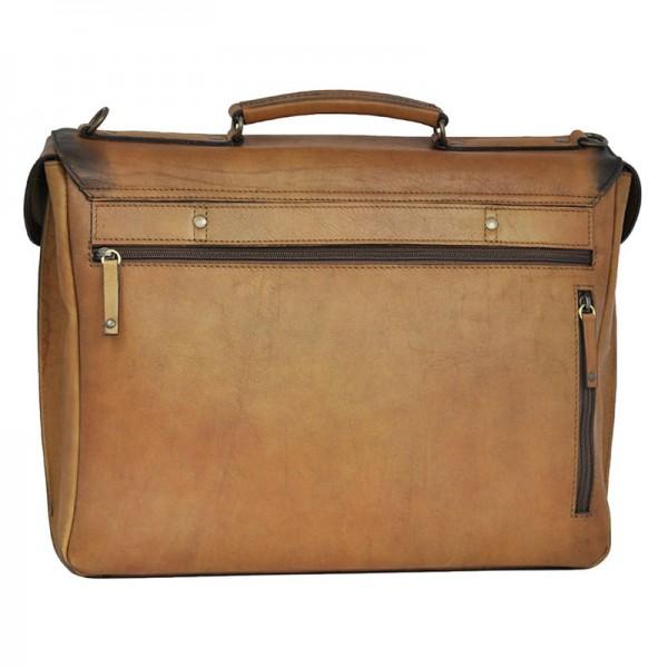 Luxusní pánská kožená taška Daag ALIVE 09 - hnědá