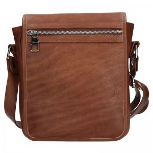 Pánská taška přes rameno Facebag Tibor - tmavě hnědá