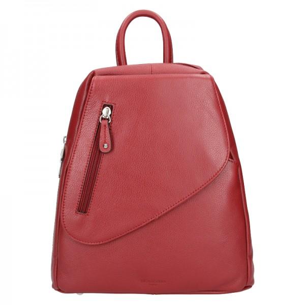 Dámský kožený batoh Hexagona Eveline - tmavě červená
