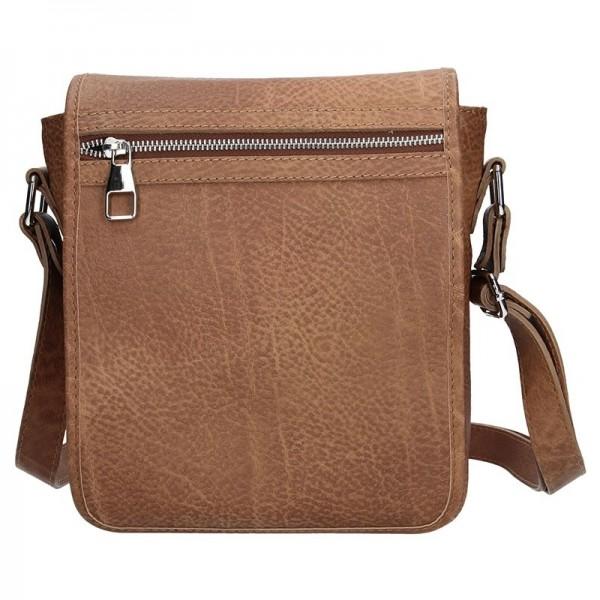 Pánská taška přes rameno Facebag Tibor - světle hnědá