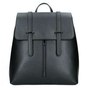 Dámský kožený batoh Delami Beathag - černá